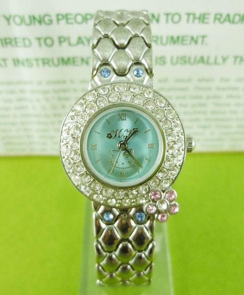 【震撼精品百貨】Hello Kitty 凱蒂貓~手錶-圓藍鑽【共1款】