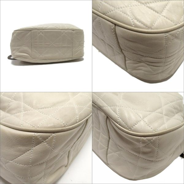 Dior 白色皮革肩背包 【二手名牌 BRAND OFF】
