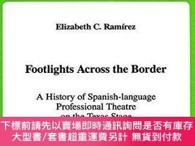 二手書博民逛書店Footlights罕見Across the Border: A History of Spanish-Langu