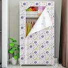 索爾諾單人簡易衣櫃 防潮布衣櫃加固鋼架衣櫥 組合衣櫃 WD 一米陽光