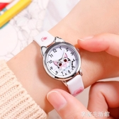 兒童手錶女小學生初中韓版防水可愛復古少女指針式卡通電子石英錶·享家生活館