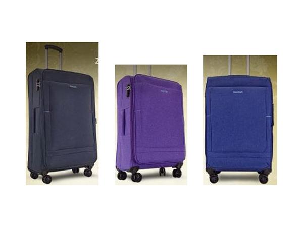 ~雪黛屋~ BATOLON 24吋行李箱商務加大容量輕量高單數防水尼龍布360度旋轉鋁合金桿WBL1512