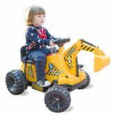 兒童摩托車 兒童電動工程車挖掘機可坐可騎挖土機四輪電動車推土機 igo玩趣3C