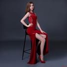 (45 Design)   高貴性感 手工水鑽 客製化顏色大尺碼訂做訂做 日韓婚紗禮服 高級訂製服 連身裙9