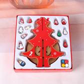 木質旋轉圣誕樹音樂盒圣誕裝飾品八音盒桌面