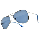 RAY BAN 太陽眼鏡 RJ9506S 21280 (槍-藍鏡片) 帥氣 飛官 兒童款 飛行款 墨鏡 # 金橘眼鏡