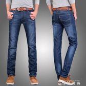 男士直筒牛仔褲男寬鬆商務休閒青年修身夏季薄款長褲子潮 薔薇時尚