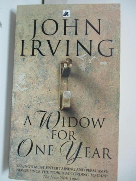 【書寶二手書T8/原文小說_AT4】A Widow for One Year_John Irving