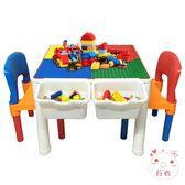 兒童遊戲桌兒童積木桌子多功能寶寶游戲桌大小顆粒積木玩具3-6周歲XW(百貨週年慶)