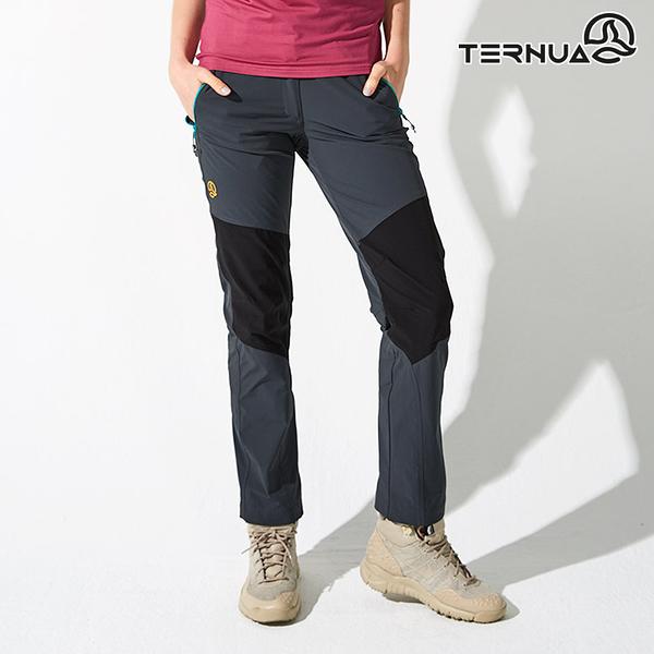【西班牙TERNUA】女Shellstretch拼接休閒彈性褲1273315 (S-XL) / 城市綠洲(輕量、透氣、防潑水)