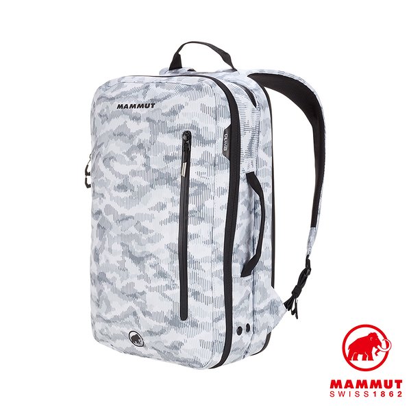 【Mammut 長毛象】Seon Transporter X 26L 迷彩攀岩通勤筆電後背包 迷彩白 #2510-04080