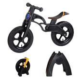 【 虎兒寶】兒童平衡滑步車組合 -AIR 充氣胎 +置車架(黑)【屈臣氏】
