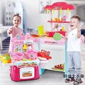 家家酒玩具做飯廚房玩具煮飯廚具套裝【時尚大衣櫥】