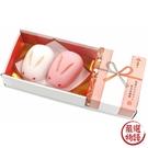【日本製】【ARUTA】和菓子造型磁鐵 二件組 紅白兔子饅頭 花繩結 SD-7943 - ARUTA