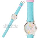 〔小禮堂〕哈妮鹿 皮革手錶《綠.鉛筆時針...