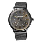 POLICE簡約高峰時尚米蘭腕錶-銀灰