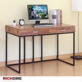 【RICHOME】DE248 《柯林頓高雅雙抽書桌》 書桌/工作桌/電腦桌/辦公桌/雙抽屜/抽屜/DIY