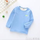 男童女童雙層加絨打底衫秋冬款寶寶保暖上衣加厚中小兒童長袖T恤 歌莉婭