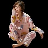 睡衣女春秋純棉長袖秋季新款網紅可外穿秋冬季家居服兩件套裝【618優惠】