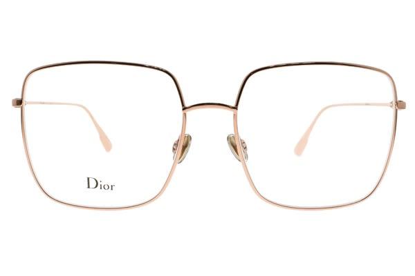 Dior 光學眼鏡 STELLAIREO1 DDB (玫瑰金) 法式優雅方框款 #金橘眼鏡