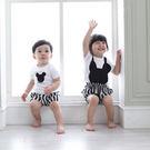 韓版黑白鼠純棉短袖上衣親子裝(小孩)