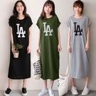 MIUSTAR 正韓-休閒LA膠印棉質長洋裝(共3色)【NJ0692RE】預購