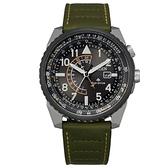 CITIZEN 星辰 航空 光動能 兩地時間手錶 BJ7138-04E _42.5mm