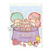 〔小禮堂〕雙子星 造型生日卡片《藍.坐姿.吃蛋糕》送禮卡.祝賀卡.節慶卡 4714581-22628
