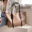 單肩包大容量質感包包女2020流行新款韓版休閑撞色單肩包時尚百搭托特包 小山好物