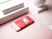 Alto iPhone XR 真皮手機殼背蓋 6.1吋 Metro - 珊瑚紅/本色 【可加購客製雷雕】皮革保護套