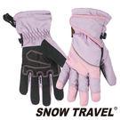 【SNOW TRAVEL 雪之旅】100%英國Ski-Dri 防水透氣超薄手套『粉紅』AR-73可觸控手套.保暖手套