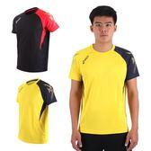 ASICS 男排羽球短袖T恤 (免運 排球 羽球 訓練 亞瑟士≡排汗專家≡