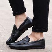 豆豆鞋 秋冬季男士豆豆鞋男鞋軟皮休閒鞋懶人鞋加絨保暖棉鞋駕車鞋 蘇荷精品女裝
