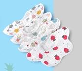 嬰兒純棉紗布圍嘴口水巾口水兜寶寶防水防吐奶吃飯圍兜360度旋轉