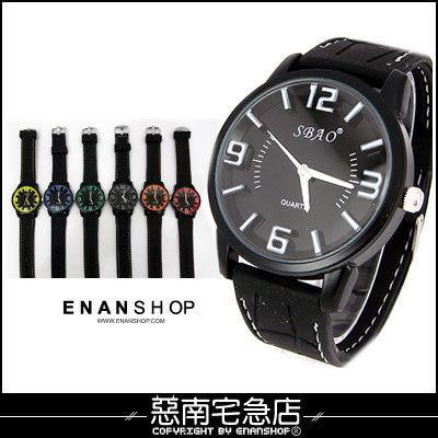 惡南宅急店【0378F】韓國空運‧男錶女錶情侶對錶可『SBAO浮雕數字』手錶‧單價