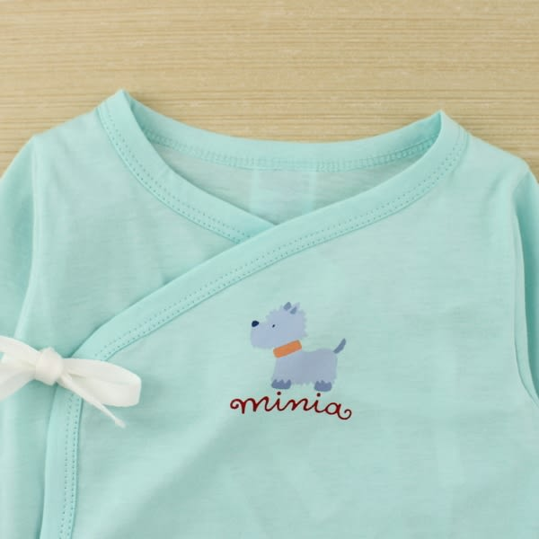 【愛的世界】純棉綁帶長袖包屁衣2件組/3~6個月-台灣製- ★幼服推薦