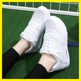 春季新款白色休閒運動鞋正韓厚底氣墊鞋女學生跑步鞋旅游鞋潮