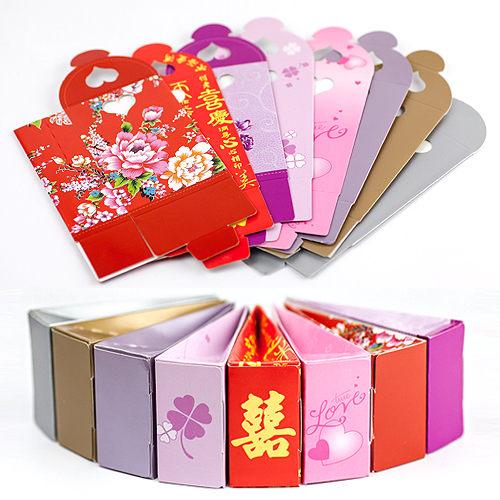 幸福婚禮小物❤DIY簍空愛心三角立盒❤喜糖盒/送客禮/桌上禮