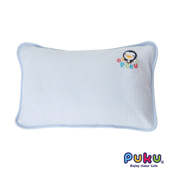【奇買親子購物網】PUKU 抗菌初生嬰兒枕(藍/粉)