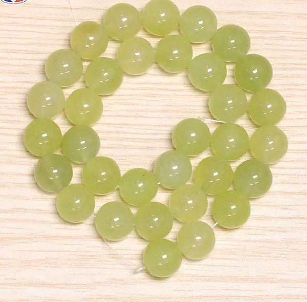[協貿國際]天然新山玉散珠14MM29顆圓珠批發價
