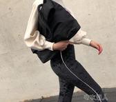 2019單肩包男女休閑尼龍港風簡約大容量旅行斜挎包 布衣潮人