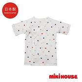 MIKI HOUSE BABY 日本製 LOGOx星星新生兒紗布衣