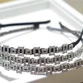 鑲鑽髮圈(任兩件)-精緻鏤空方塊設計女髮箍6款73gi1【時尚巴黎】