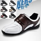 高爾夫球鞋 魔術貼鞋帶 男士 紳士商務風...
