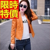 女外套 皮衣-率性流行典型女機車夾克3色62m32[巴黎精品]