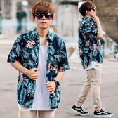 襯衫 夏日氣息寬鬆版印花圖騰花襯衫【NB0840J】