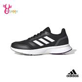 adidas NOVA FLOW 成人女款 運動鞋慢跑鞋 S9310#黑白◆OSOME奧森鞋業