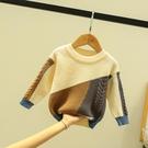 兒童針織衫小男童毛衣套頭秋冬款寶寶復古毛線衣嬰兒上衣女童秋裝 雙十一全館免運