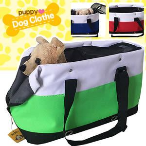 條紋拉鏈寵物手提包提籠手提袋寵物提袋寵物包寵物背包單肩背包側背包透氣包輕巧貓咪包小狗包