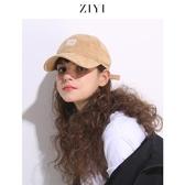 ZIYI秋冬天帽子女韓版時尚潮人棒球帽街頭百搭鴨舌帽黑色學生ins